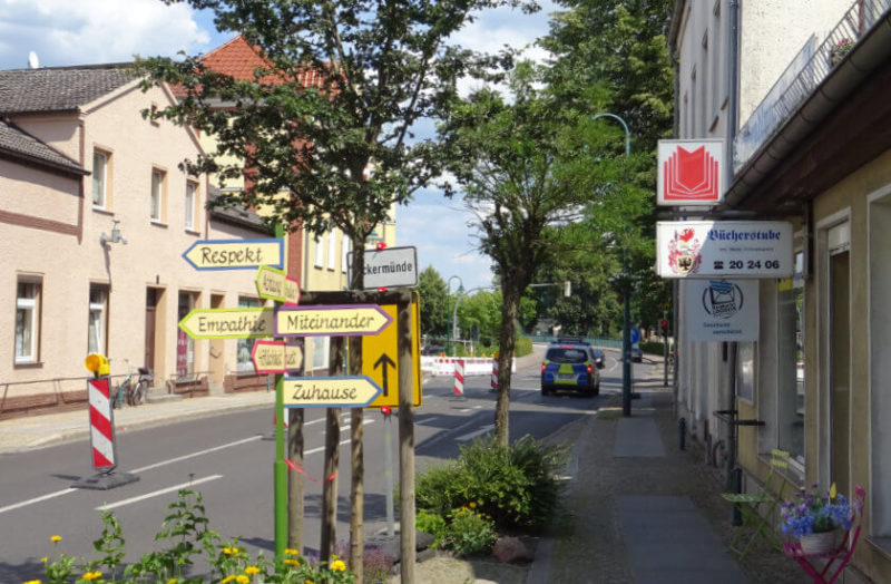 Wegweiser in Torgelow