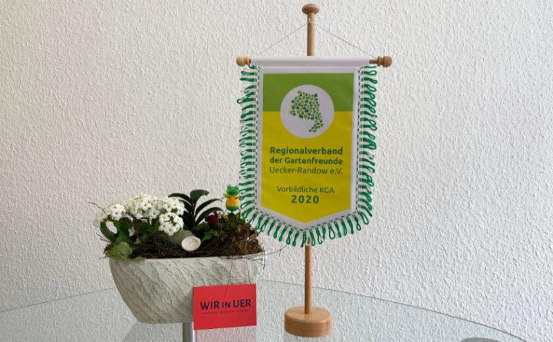 Wimpel für den Regionalverband der Gartenfreunde Uecker-Randow e.V.