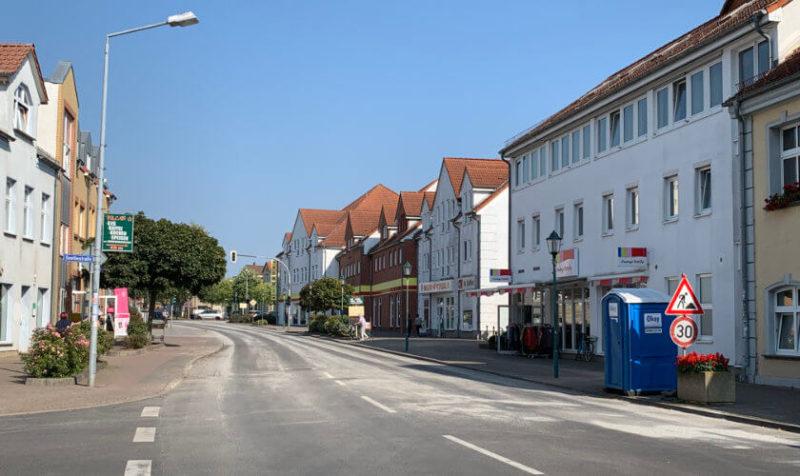 Bahnhofstraße in Torgelow