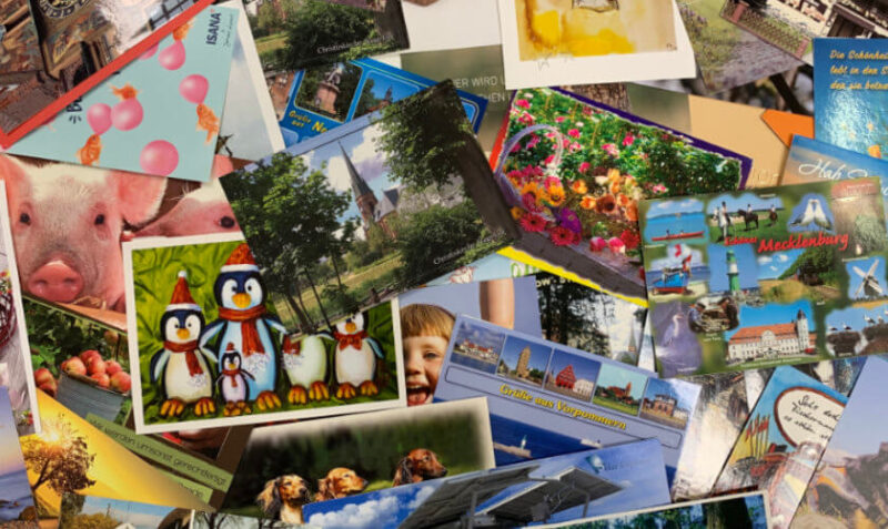 Viele Postkarten