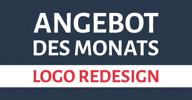 Angebot des Monats: Logo Redesign