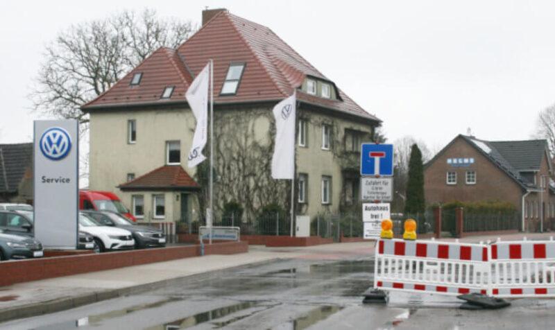 Bauarbeiten in der Belliner Straße in Ueckermünde