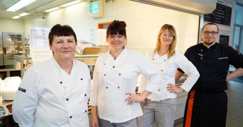 Das Team der Kantine der Eisengießerei Torgelow