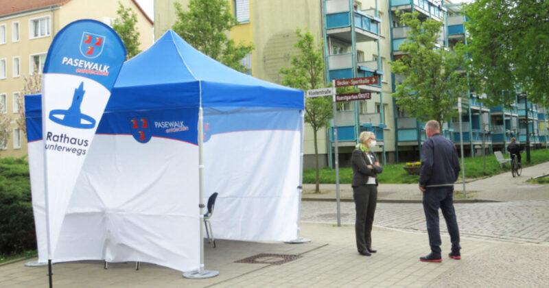 Pasewalker Rathaus unterwegs mit Bürgermeisterin Sandra Nachtweih