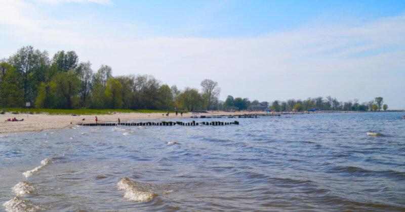 Abkühlung am Strand von Ueckermünde