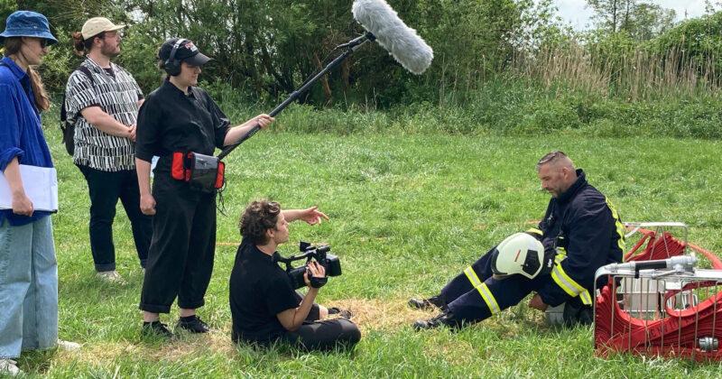 Filmdreh in Nieden