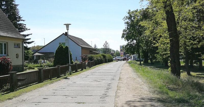 Sperrung des Parkwegs in Ueckermünde