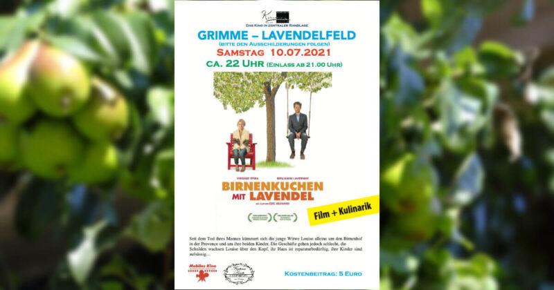 """Freiluftkino """"Birnenkuchen mit Lavendel"""" am 10. Juli"""