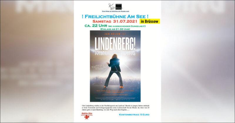 """Freiluftkino """"Lindenberg! Mach dein Ding"""" am 31. Juli in Brüssow"""