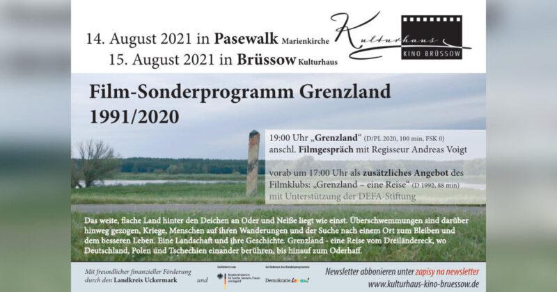 Film-Sonderprogramm Grenzland 1991/2020 in Pasewalk und Brüssow
